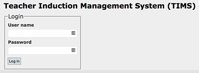 teacher induction management system screenshot